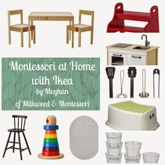 Confessions of a Montessori Mom blog: Montessori at Home with Ikea by Meghan Sheffield of Milkweed & Montessori