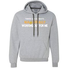 "Heavyweight Pullover Fleece Sweatshirt - POSITIVE AFFIRMATION ""THINGS ARE ALWAYS MAGICALLY WORKING OUT FOR ME"""