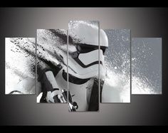Star Wars Canvas Set, Storm Trooper | $32.28 | Discounted Rare Home Decor