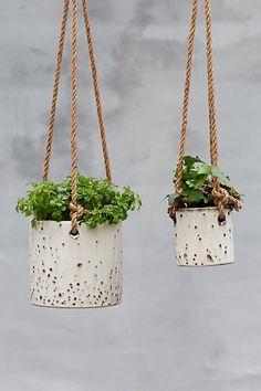 Anthropologie Hanging Earthenware Pot