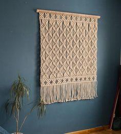 Macrame woven wall hanging..