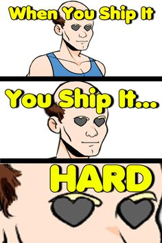 One spark of chemistry and the whole canon goes up in flames and becomes OBSESSION.  Picture from Dream Daddy: A Dad Dating Simulator - Because who doesn't want to date Dads? : Video Game Meme, Geek, Shipping, Fanfiction #geek #gaming #gamermeme #gamerproblems #shipit