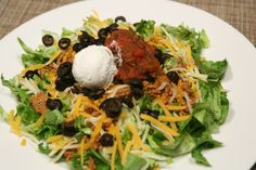 Taco Salad. A great way too spice up your Low Carb Lifestyle.