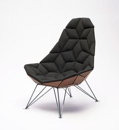 Each section is hinged together by a strong fabric as part of its construction. The unique structure gives the chair slight flexibility, all...