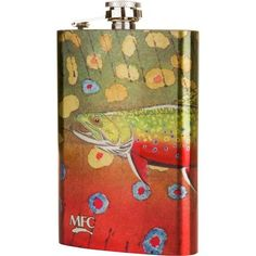 Nothing will turn a slow day on the river around quicker than a quick toast to the river gods with the Montana Fly Company Brook Trout Flask. Featuring original artwork by Jeff Currier, this stainless steel flask keeps your preferred beverage close for quick sipping between casts.