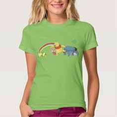 Pooh and Pals Under the Rainbow Tshirts by Disney 15% Off All Orders | Up to 50% Off St. Paddy's Gifts - use code: ZAZZPOTOGOLD