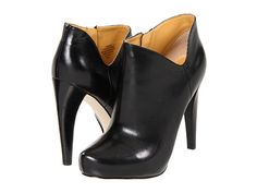 Nine West - Cosy black leather booties. These are actually comfortable. Leather Booties, Black Booties, Ankle Booties, Bootie Boots, Shoe Boots, Shoe Bag, Shoe Shoe, Shoe Closet, Dark Brown Leather