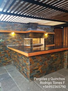 PERGOLAS Y QUINCHOS Outdoor Kitchen Grill, Outdoor Oven, Backyard Kitchen, Outdoor Kitchen Design, Backyard Patio, Backyard Pavilion, Casa Patio, Tyni House, House Yard