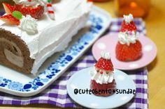Strawberry and whipped cream santa