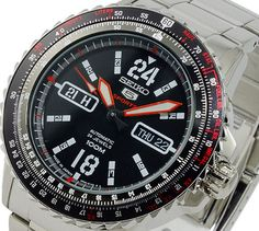Seiko 5 Sport Men& Automatic Pilot& Watch - In Stock, Free Next Day Delivery, Our Price: Buy Online Now Seiko 5 Sports, Seiko Men, Watch This Space, Seiko Watches, Sport Man, 100m, Pilot, Delivery, Stuff To Buy