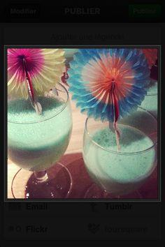 Juliana blue , ou le cocktail vert d'eau