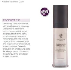 Fewer preservatives? Sign me up now! Gotta love products that will treat my skin right!  Check it out - Younique Divine Daily Moisturizer https://www.youniqueproducts.com/andreahedberg/products/view/US-11701-01#.VKyscMY-DBI