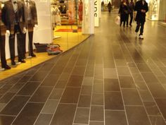 Shopping centre with slate flooring