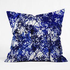 Garima Dhawan Autumn Indigo Throw Pillow | DENY Designs Home Accessories