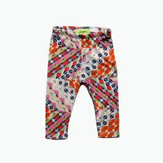 bright geometric baby toddler leggings by Supayana on etsy