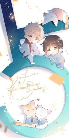 Pin on Manhua Cute Chibi Couple, Anime Love Couple, Cute Anime Couples, Kawaii Anime, Cute Anime Chibi, Anime Angel, Manga Anime, Anime Art, Cute Cartoon Drawings
