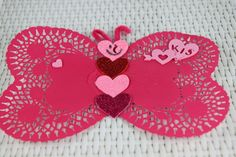 butterfly valentine doilies Easy and Inexpensive Valentine Crafts for Kids