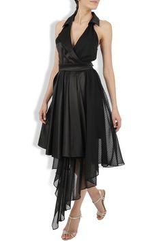 Rochie neagra de seara bumbac si voal High Low, Dresses, Fashion, Vestidos, Moda, Fashion Styles, Dress, Fashion Illustrations, Gown