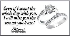 Show her just how much you enjoy her company! #engagementring #weddingband #missyou