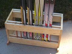 Cross Country Ski Rack Basement Storage, Stair Storage, Garage Storage, Tool Storage, Storage Racks, Ski Rack, Nordic Skiing, Ski And Snowboard, Snowboarding
