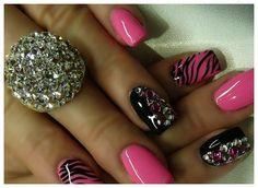 2014 Pink Acrylic Nails Designs: Pink Acrylic Nails With Bow ~ nailsdesignsideas.com Acrylic Nails Inspiration