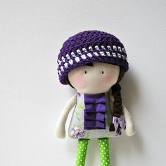 "So pretty. Handmade dool - ""My Teeny-Tiny Doll™ by Cook You Some Noodles"