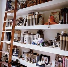 I like the long shelves. My French Country Home, French Living - Sharon Santoni