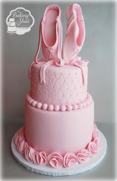 Ballerina Cake...I like this cake but would have only done the shoes in pink.