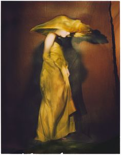 Guinevere in yellow dress, Paris 1996  by Paolo Roversi