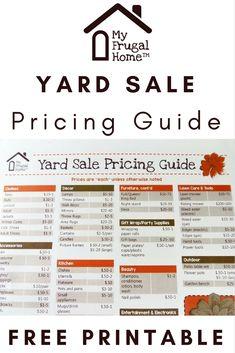 46 Best Garage sale pricing images in 2018 | Garage sale tips, Yard