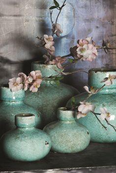 Spring bottles PTMD - glazed ceramics