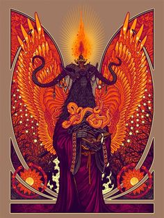 "The Art of Florian Bertmer: ""Order of the Seven Serpents"" print"