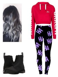 """""""Unknown #8"""" by lgalindo-i ❤ liked on Polyvore featuring Topshop and Dr. Martens"""