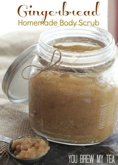 This amazing Gingerbead Homemade Body Scrub is a great gift item for anyone!