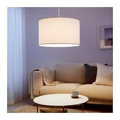 IKEA - NYMÖ, Lamp shade, Create your own personalized pendant or floor lamp by combining the lamp shade with your choice of cord set or lamp base.Make a statement in your room with an oversized pendant shade of cloth, which also will provide a beautiful diffused light over the room or the dining table.