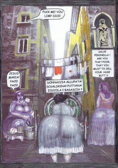 """47 - Jeder in Neapel (außer der Ehemann) weiß, dass Peronella nicht nur das Fass sondern auch ihren Hintern verkauft hat. Im amerikanischen Slang bedeutet """"Butt"""" beides."""