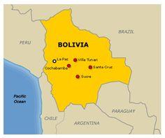 Map of Bolivia La Paz Bolivia South America Maps Boliva Map