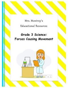 Complete unit on Forces Causing Movement for Grade 3 Ontario Science Curriculum Science Curriculum, Science Resources, Science Lessons, Teaching Science, Teaching Ideas, Ontario Curriculum, Techno, Third Grade Science, Force And Motion