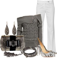 """""""Untitled #390"""" by lisamoran ❤ liked on Polyvore...for me, I would have different shoes, but LOVE THE OUTFIT!!!"""