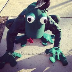 Fantastic Frog Costume for a First Grader... Coolest Halloween Costume Contest