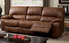 Furniture of America Wagner Collection Reclining Sofa