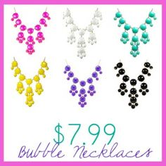 Screaming Owl giveaway, win all 6 bubble necklaces
