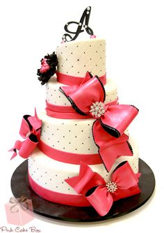 Bows and Bling Cake