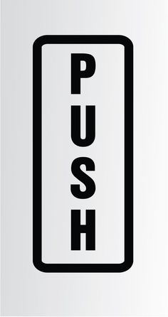 """Push Pull Entrance Exit Vinyl Sticker Self Adhesive Signs for Doors 2""""X5"""" 
