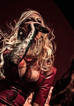 Maria Brink from the band In this Moment. Not into any of the screaming songs. When she actually sings it's magnificent.