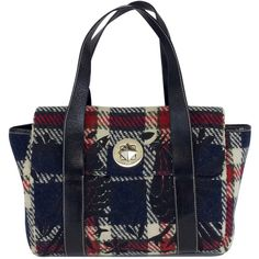 Pre-owned Kate Spade Multi-Color Plaid Embroidered Bag ($111) ❤ liked on Polyvore featuring bags, handbags, shoulder bags, shoulder strap handbags, embroidered purse, colorful purses, plaid handbags and blue purse