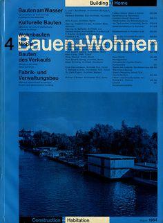 Bauehn+Wohnen magazine. Richard Paul Lohse (1954).