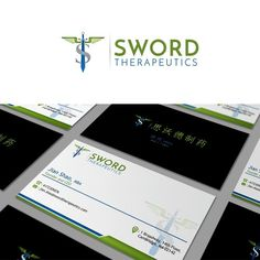 Sword Therapeutics - Design a logo and a business card for a pharmaceutical company