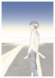 - - Please visit our website to support us! Manga Boy, Manga Anime, Anime Art, Illustration Art Nouveau, Manga Illustration, Boy Art, Art Girl, Poster Graphics, Nate River