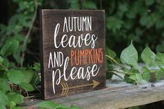 Wooden Fall Sign Autumn Decor Rustic Fall Signs Rustic Wood